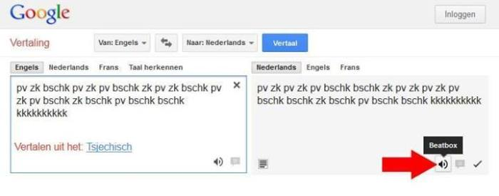 Google translate beatbox